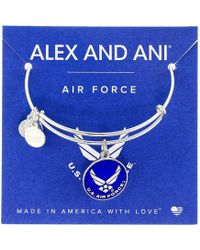ALEX AND ANI - Us Air Force (gold) Bracelet - Lyst