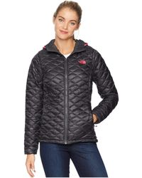 The North Face - Thermoballtm Hoodie (asphalt Grey) Women's Coat - Lyst