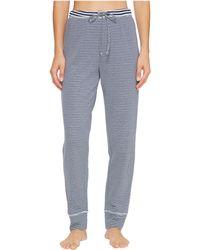 Jockey - Double Face Knit Long Pants (reverse Stripe Aqua) Women's Pajama - Lyst