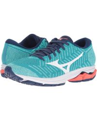 Mizuno - Wave Rider 22 Knit (pink Glo/sodalite Blue) Women's Running Shoes - Lyst