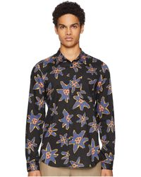 Paul Smith - Long Sleeve Abstract Floral Shirt (black) Men's Clothing - Lyst