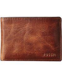 Fossil - Derrick Front Pocket Bifold - Lyst