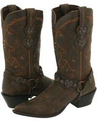 Durango - Crush Cowgirl Boot (saddle Brown W/tan & Brown) Cowboy Boots - Lyst