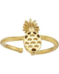 ALEX AND ANI - Pineapple Adjustable Ring (14kt Gold Plated) Ring - Lyst