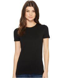 Lauren by Ralph Lauren - Cotton Short Sleeve Tee (black) Women's T Shirt - Lyst