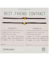 Dogeared - Best Friend Contract, Set Of 2 Heart Bracelets (gold) Bracelet - Lyst
