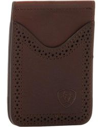 Ariat - Shield Perforated Edge Money Clip - Lyst