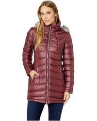 Spyder - Syrround Faux Fur Down Jacket (winetasting/winetasting) Women's Coat - Lyst