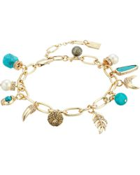 Lauren by Ralph Lauren | Turquoise And Pave Mixed Charms Bracelet | Lyst