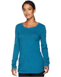 Mod-o-doc - Slub Jersey Long Sleeve Twisted Scoop Neck Tee (blueprint) Women's Long Sleeve Pullover - Lyst