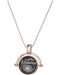 ALEX AND ANI - Wrinkle In Time - Most Beautiful Dream Spinner Expandable Necklace (shiny Rose Gold) Necklace - Lyst