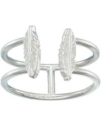 ALEX AND ANI - Feather Ring (sterling Silver) Ring - Lyst