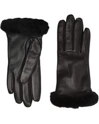 UGG - Classic Leather Shorty Tech Gloves - Lyst
