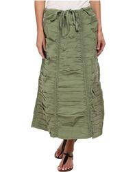 XCVI - Stretch Poplin Double Shirred Panel Skirt (sea Turtle) Women's Skirt - Lyst