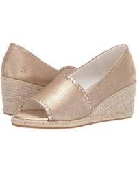 72eb2fbb836 Jack Rogers - Palmer Espadrille Wedge (platinum) Women s Wedge Shoes - Lyst
