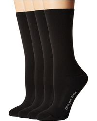 Hue - Body Socks 4-pack (black Pack) Women's Crew Cut Socks Shoes - Lyst