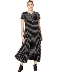 Lauren by Ralph Lauren - Plus Size Jersey Striped Maxi Dress (polo Black/silk White) Women's Clothing - Lyst