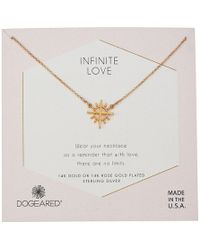 Dogeared - Infinite Love, Cross With Rays Charm Necklace (sterling Silver) Necklace - Lyst