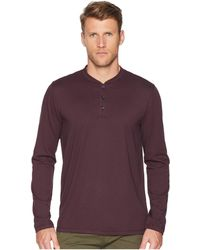 Perry Ellis - Pima Stretch Henley (black) Men's Clothing - Lyst
