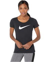 new product 92a96 4398f Nike - Dry Tee Scoop Swoosh Cross-dye (black black heather)