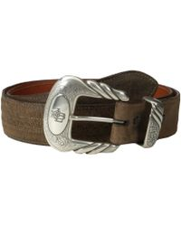 Lucchese - W2251h (chocolate Mad Dog Goat) Men's Belts - Lyst