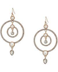 Guess - Fishhook Earrings W/ Stones (gold) Earring - Lyst