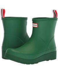 HUNTER - Original Play Boot Short Rain Boots (black) Women's Rain Boots - Lyst