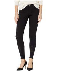 Hue - Shredded Hem Denim Leggings (black) Women's Jeans - Lyst