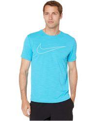 2bd50fa7f Nike - Superset Top Short Sleeve Gfx (black/white) Men's Clothing - Lyst