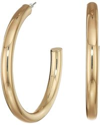 Guess - Large Iridescent Hoop Earrings (gold) Earring - Lyst