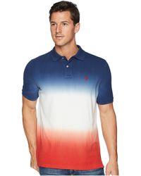 Polo Ralph Lauren - Dip-dyed Pique Polo (navy/white Dip-dye) Men's Clothing - Lyst