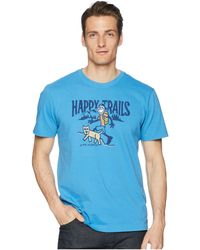Life Is Good. - Happy Trails Crusher Tee (marina Blue) Men's Short Sleeve Pullover - Lyst