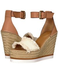 See By Chloé - Sb28152 (navy/beige) Women's Wedge Shoes - Lyst