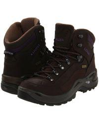 Lowa - Renegade Gtx Mid Ws (slate/eggplant) Women's Hiking Boots - Lyst