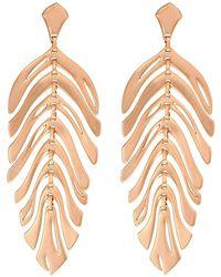 Kendra Scott - Lotus Earrings (gold/ivory Marbled Acrylic) Earring - Lyst