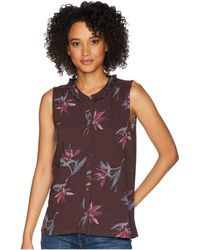Lucky Brand - Floral Printed Tank Top (multi) Women's Clothing - Lyst
