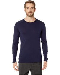 Icebreaker - Oasis Mid-weight Merino Long Sleeve Crewe (midnight Navy 1) Men's Long Sleeve Pullover - Lyst