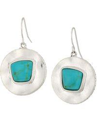The Sak | Round Drop Stone Earrings | Lyst