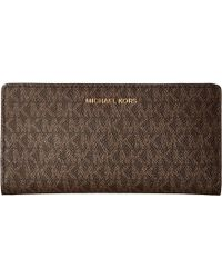 a103619441859 MICHAEL Michael Kors - Large Card Case Carryall (vanilla acorn) Credit Card  Wallet
