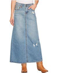3c37c5742e Stetson - Long Denim Skirt W  Back Slit (blue) Women s Skirt - Lyst