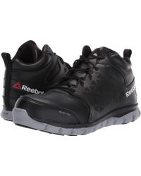 Lyst - Reebok Sublite Cushion Rb039 Composite Toe Oxford in Black cccd4a123