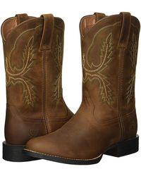 cefc8114ace Ariat Sport Stratten (dark Wicker/tack Room Blue) Cowboy Boots in ...