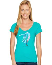 Life Is Good. - Bend Yoga Smooth Tee (bright Teal) Women's T Shirt - Lyst
