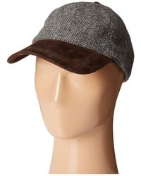 Stetson - Wool Blend Cap With Suede Peak - Lyst