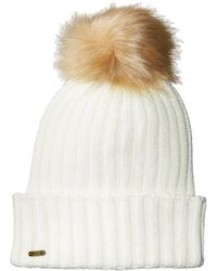 5d224e77320 San Diego Hat Company - Knh3476 Beanie With Pom Pom (ivory) Beanies - Lyst