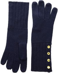 MICHAEL Michael Kors - Rib Gloves (cream/gold) Extreme Cold Weather Gloves - Lyst