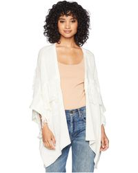 Bishop + Young - Fringe Cardigan (ivory) Women's Sweater - Lyst