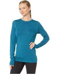 Icebreaker - 200 Oasis Merino Baselayer Long Sleeve Crewe (kingfisher) Women's Clothing - Lyst