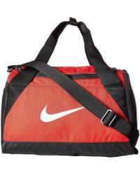 f07c84ca91 Nike - Brasilia Duffel Extra Small (midnight Navy black white) Duffel Bags