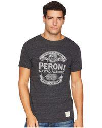 The Original Retro Brand - Peroni Short Sleeve Vintage Tri-blend Tee (streaky Black) Men's T Shirt - Lyst